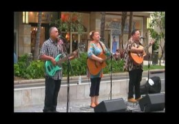 Na Mele No Na Pua with Jeff Rasmussen, Robi Kahakalau, and Alden Levi at Waikiki Beach Walk (@waikikibeachwlk) Recorded on April 26, 2015