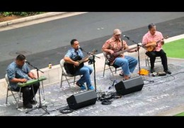 Na Mele No Na Pua Music for the Generations – Del Beazley singing Sassafrass Live at Waikiki Beach Walk (@waikikibeachwlk)