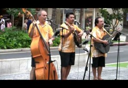 Na Mele No Na Pua with Ho'okena Recorded Live at Waikiki Beach Walk on Sunday, August 23, 2015 #outriggermele