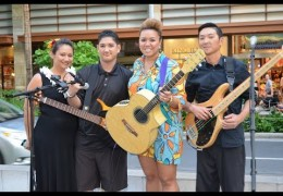Na Mele No Na Pua with Mailani Makainai Live at Waikiki Beach Walk on 12/27/2015 (@waikikibeachwlk @mailani) #outriggermele #outriggermusic