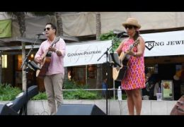 Na Mele No Na Pua – Lehua Kalima & Shawn Pimental at Waikiki Beach Walk – 1000 Years (@waikikibeachwlk)